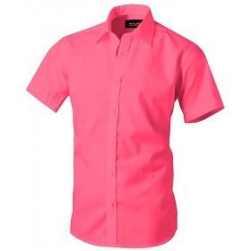 Cyklámenovoružová košeľa s krátkym rukávom Pako Lorente