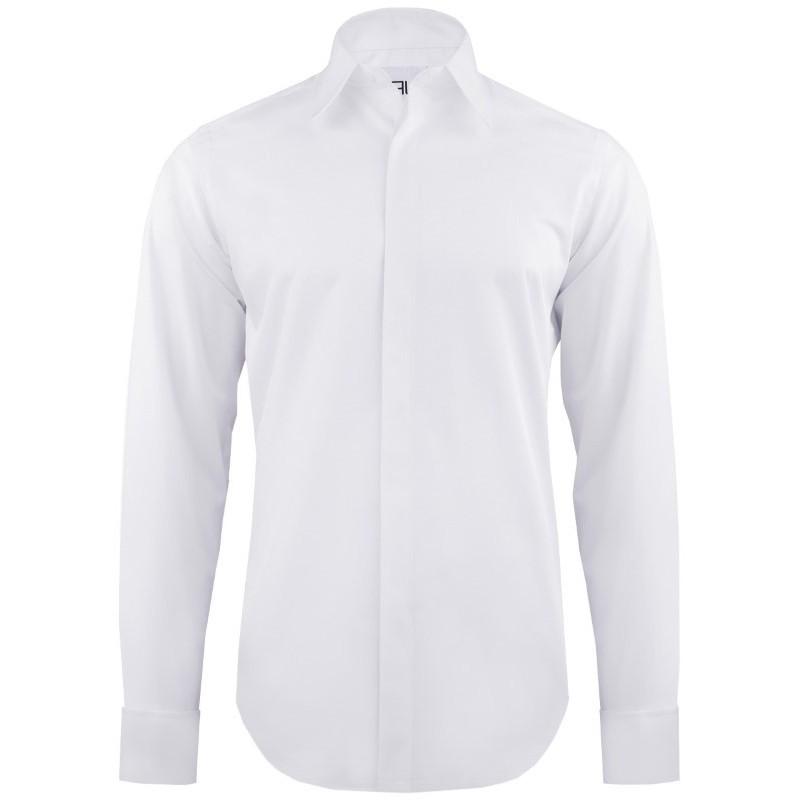Luxusná bavlnená košeľa na manžetové gombíky slim fit Pako Lorente