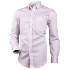 Bavlnená košeľa bledoružová so vzorovanou podšívkou Victorio