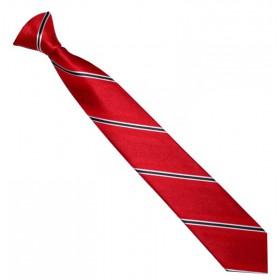 Detská kravata červená s čierno-bielymi prúžkami