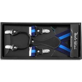Traky granátovo-modré s elegantným upínaním
