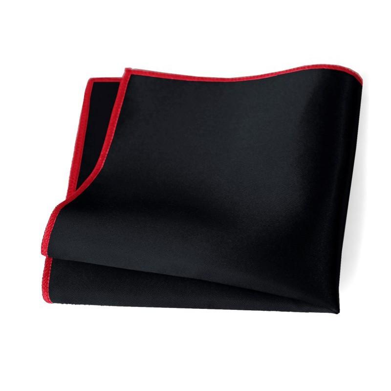 Vreckovka čierna s červeným lemom