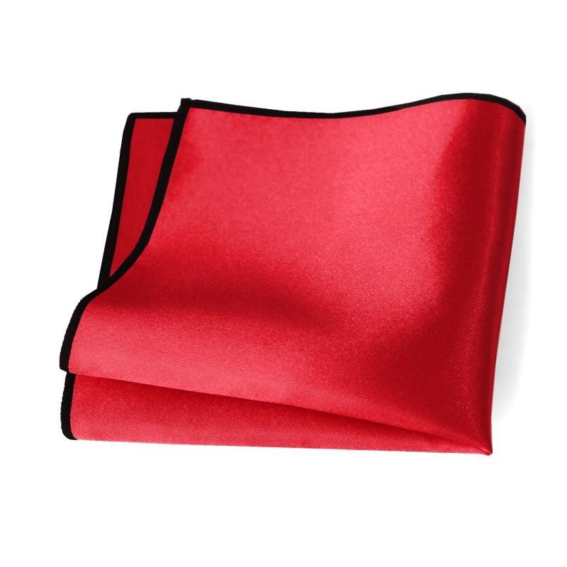 Vreckovka červená s čiernym lemom