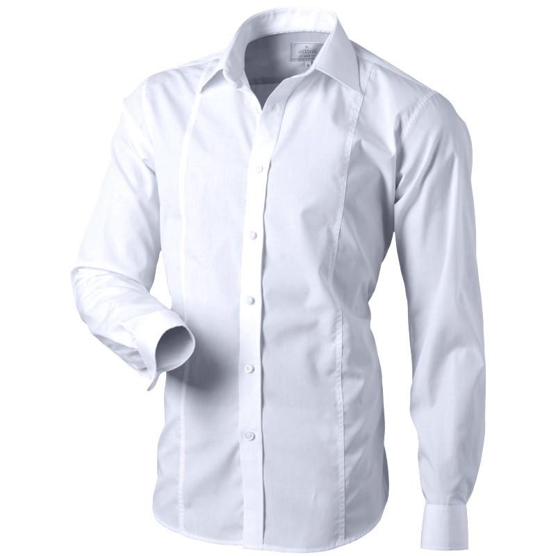 Biela košeľa slim fit aj na manžetové gombíky