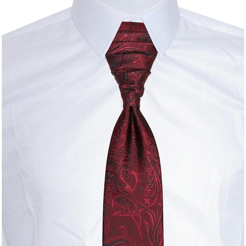 bordová francúzska kravata vzor