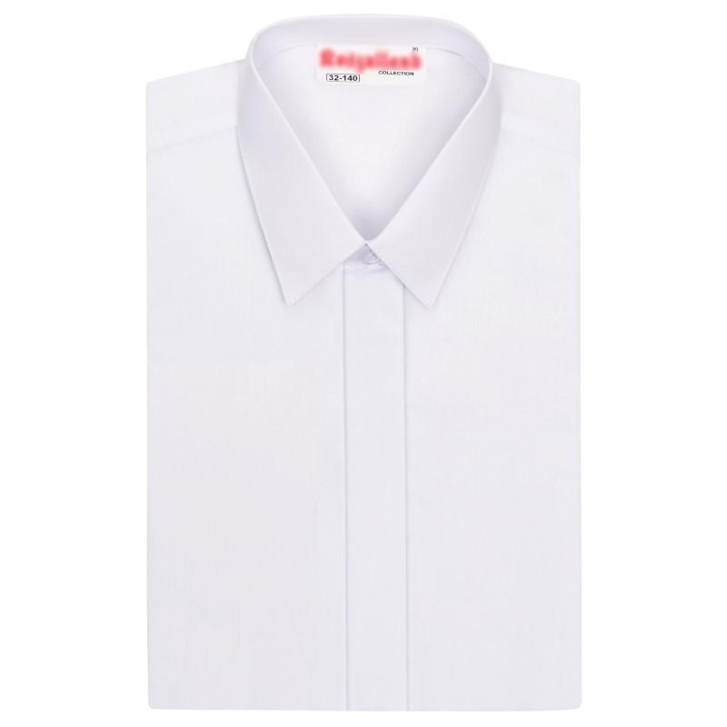Biela chlapčenská košeľa so skrytou légou