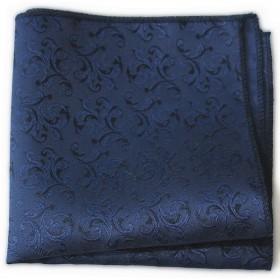 Granátová modrá vreckovka s ornamentom