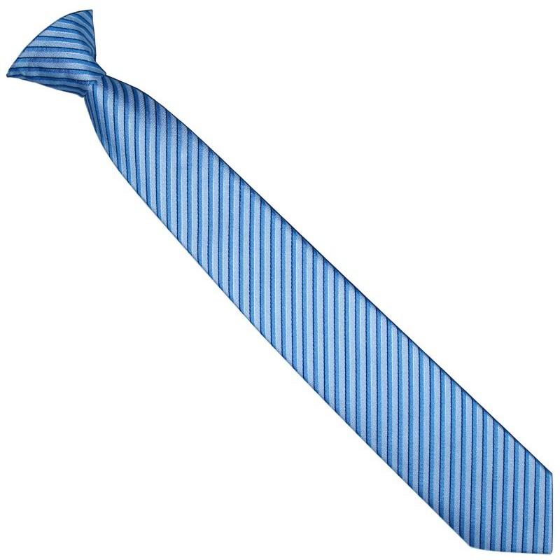 Detská kravata svetlomodrá prúžkovaná