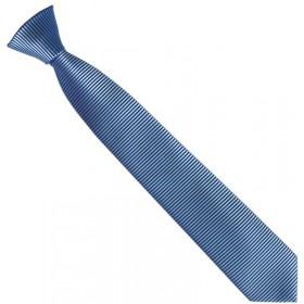 Detská kravata priečne prúžkovaná svetlomodrá