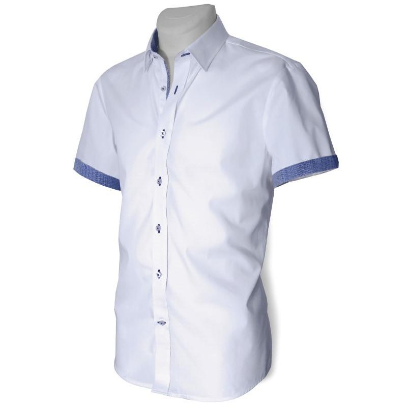 Košeľa s krátkym rukávom so vzorovanou podšívkou slim fit DESIRE by Victorio