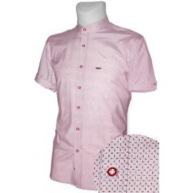 Košeľa so stojačikom s červeným vzorom EgoMan