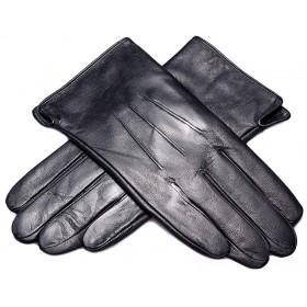 Pánske kožené rukavice s kožušinovou podšívkou so vzorom