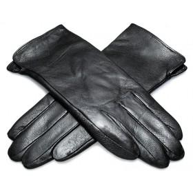 Pánske kožené rukavice s kožušinovou podšívkou