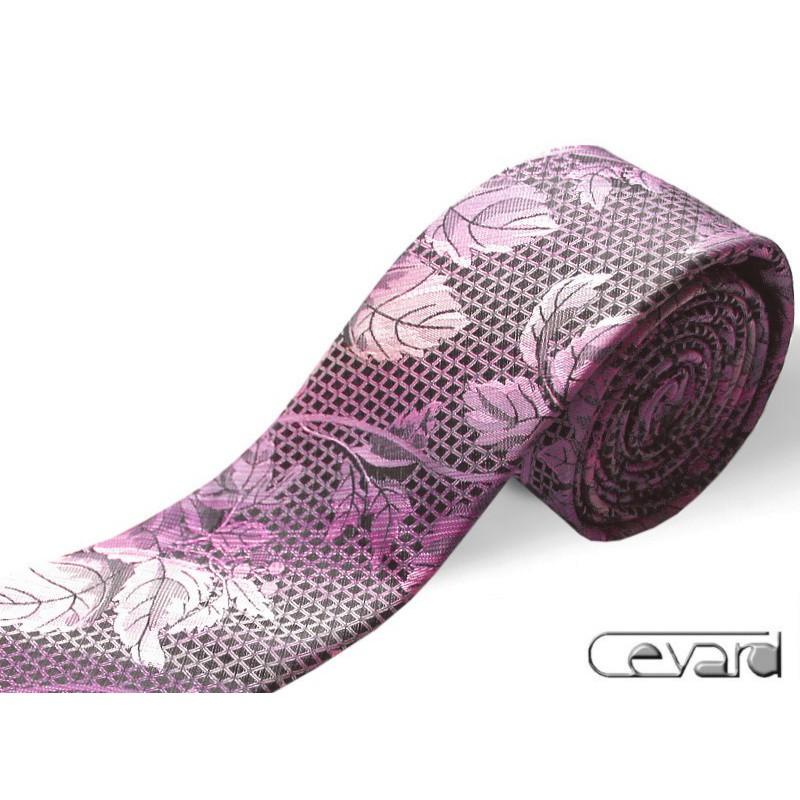 sivo-ružová kravata extravagantná