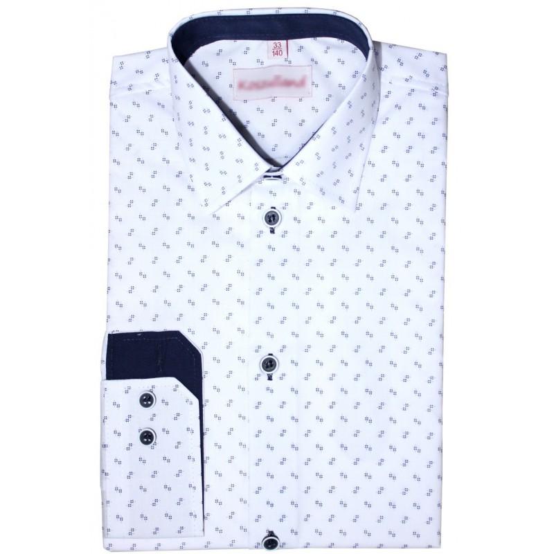 Chlapčenská košeľa s granátovým vzorom slim fit