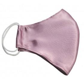 Saténové ružové ochranné rúško dvojvrstvové