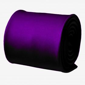 Spoločenská fialová kravata s vreckovkou