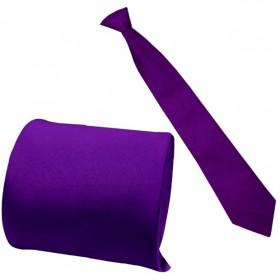 Kravata chlapčenská a pánska fialová hladká