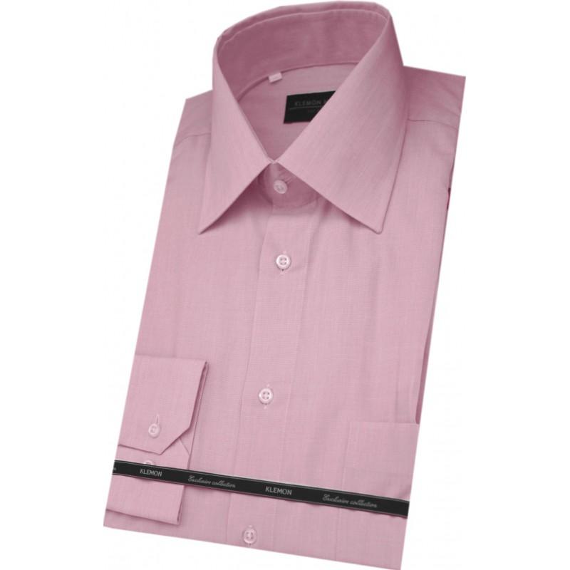 Košeľa ružová fil-a-fil semi slim fit