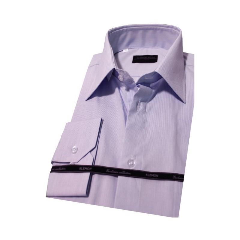 Prúžkovaná fialová biznis košeľa
