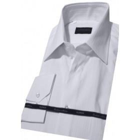 Biela prúžkovaná košeľa