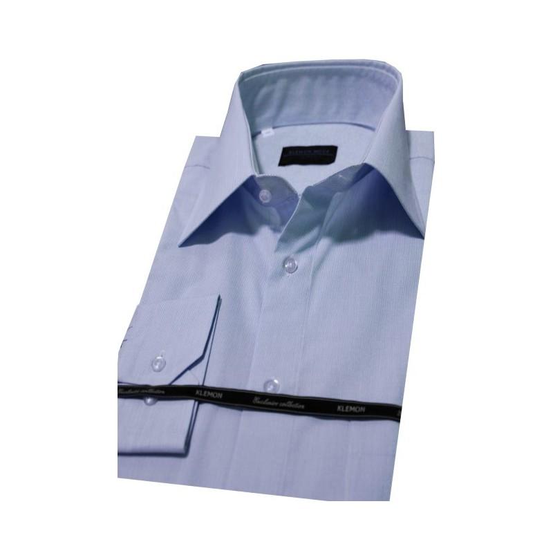Prúžkovaná modrá biznis košeľa