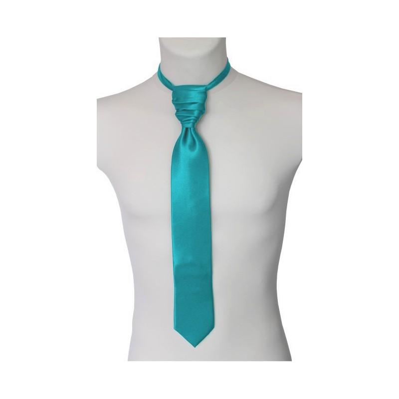 Tyrkysovozelená francúzska kravata