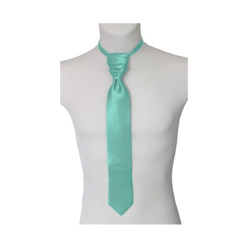 Francúzska kravata mentolová s vreckovkou