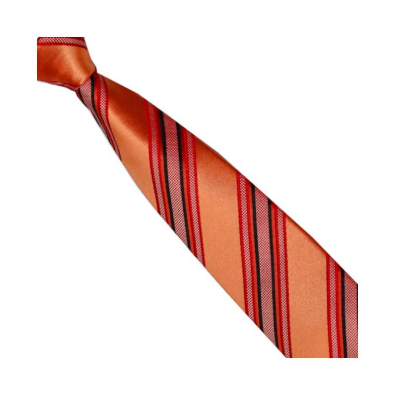 Detská kravata sýtooranžová