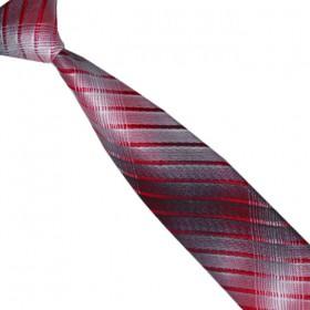 Detská kravata dúhovaná grafitovo-červená