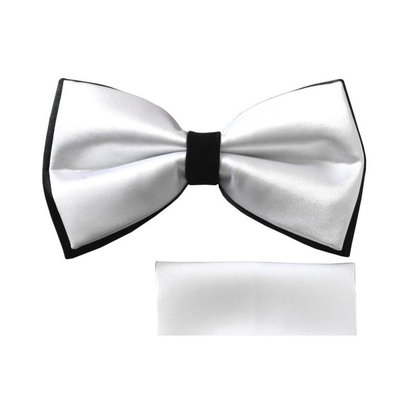 Bielo-čierny motýlik s vreckovkou