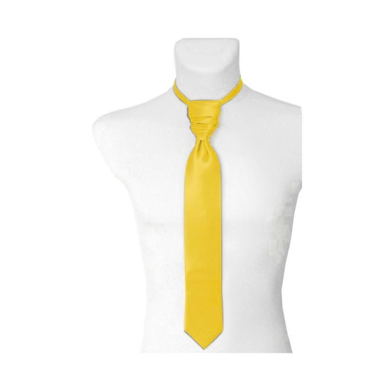 Francúzska kravata žltá s vreckovkou
