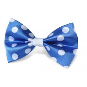Detský motýlik bodkovaný modrý